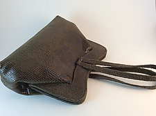 Deborah-Olive Reptile Pattern by Michelle  LaLonde  (Leather Purse)