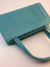 Myrna Handbag in Turquoise by Michelle  LaLonde  (Leather Purse)