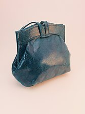 Elisa Evening Bag-Teal Wave by Michelle  LaLonde  (Leather Purse)
