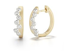 Scribble Cascade Huggie Earring by Dana Melnick (Gold & Stone Earrings)