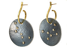 Round Firefly Earrings by Ayesha Mayadas (Gold & Stone Earrings)