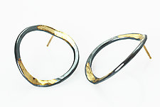 V-Forged Hoops by Ayesha Mayadas (Gold & Silver Earrings)