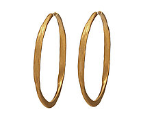 Splash Vermeil Hoops by Ayesha Mayadas (Gold Earrings)