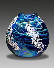 Cobalt Swirl by Bryce Dimitruk (Art Glass Vase)
