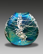 Tropical Swirl by Bryce Dimitruk (Art Glass Vase)