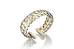 18K on Sterling Hand-Woven Cuff by Gabriel Ofiesh (Gold & Silver Bracelet)
