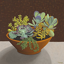 Succulents by Jane Troup (Giclee Print)