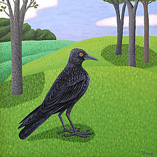 BLACKBIRD by Jane Troup (Oil Painting)