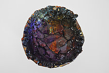 Purple Wall Flower by Mira Woodworth (Art Glass Wall Sculpture)