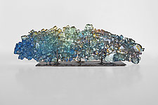 Dreamscape 66 by Mira Woodworth (Art Glass Sculpture)