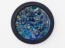Tahoe Blue Dynamic Portal by Mira Woodworth (Art Glass Wall Sculpture)