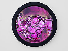 Dynamic Portal in Pink by Mira Woodworth (Art Glass Wall Sculpture)