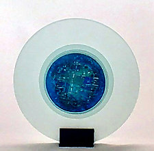 Caribbean Sea Sculpture by Alicia Kelemen (Art Glass Sculpture)
