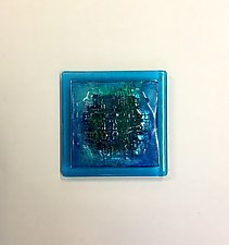 Aquamarine Blue by Alicia Kelemen (Art Glass Wall Sculpture)