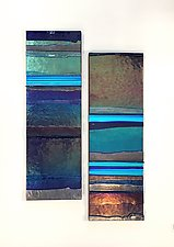 Deep Ocean Mosaic by Alicia Kelemen (Art Glass Wall Sculpture)