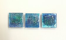Winter I by Alicia Kelemen (Art Glass Wall Sculpture)