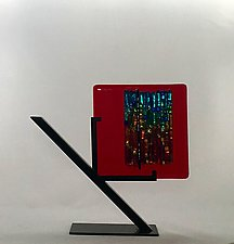 Rainbow-Red Refuge by Alicia Kelemen (Art Glass Sculpture)