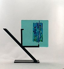 Aqua Marina Bay I by Alicia Kelemen (Art Glass Sculpture)