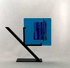 Azure Marina I by Alicia Kelemen (Art Glass Sculpture)