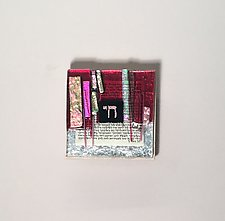 Life in Pink with CHAI Symbol by Alicia Kelemen (Art Glass Wall Sculpture)