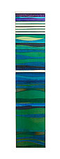 Mosaic Emerald Sea by Alicia Kelemen (Art Glass Wall Sculpture)