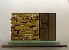 Western Wall Sculpture Jerusalem Skyline by Alicia Kelemen (Art Glass Sculpture)