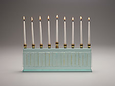 Majestic Gala Diamond Menorah by Alicia Kelemen (Art Glass Menorah)