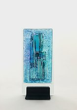 Lavender Blue by Alicia Kelemen (Art Glass Sculpture)