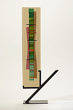 Mint Green Waterfall I by Alicia Kelemen (Art Glass Sculpture)