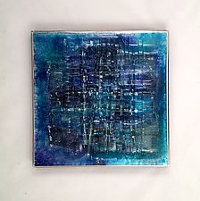 Aqua Blue II by Alicia Kelemen (Art Glass Wall Sculpture)