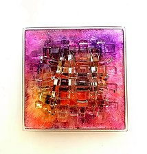 Rose Sunrise III by Alicia Kelemen (Art Glass Wall Sculpture)
