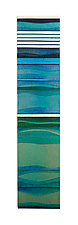Mosaic Aqua Sea by Alicia Kelemen (Art Glass Wall Sculpture)