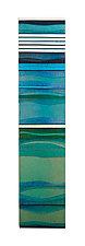 Mosaic Aqua Sea by Alicia Kelemen (Art Glass Wall Sculpture)