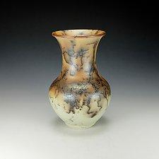 Horsehair Raku Vessel #10 by Lance Timco (Ceramic Vessel)