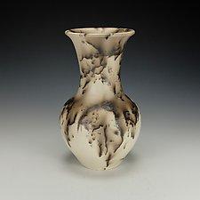 Horsehair Raku Pottery Vase IV by Lance Timco (Ceramic Vase)