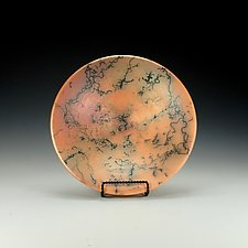 Horsehair Raku Pottery Bowl by Lance Timco (Ceramic Bowl)