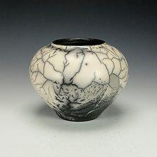 Naked Raku Vessel III by Lance Timco (Ceramic Vase)