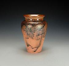 Horsehair Raku Pottery Vase III by Lance Timco (Ceramic Vase)