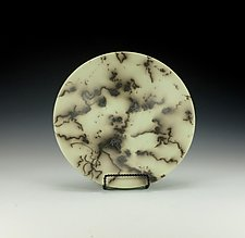 Horsehair Raku Pottery Bowl III by Lance Timco (Ceramic Bowl)