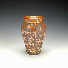 Zig Zag Raku Puzzle Vessel V by Lance Timco (Ceramic Vessel)