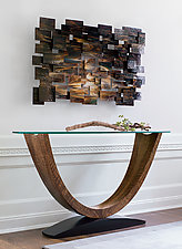 Crescent Console Table by Enrico Konig (Wood Console Table)