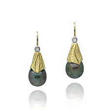 Midori Earrings by Keiko Mita (Gold & Stone Earrings)