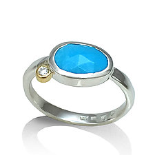 Pebble Stone Ring by Keiko Mita (Silver & Stone Ring)