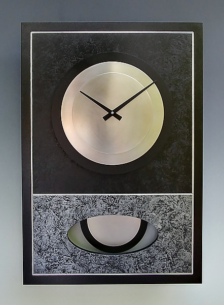 Black and Silver Walid Pendulum Clock