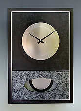 Black and Silver Walid Pendulum Clock by Leonie  Lacouette (Wood & Steel Clock)