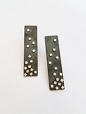 Eclipse Rectangle Confetti Earrings by Heather Guidero (Silver Earrings)