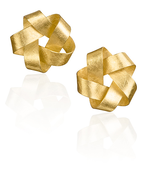 Gold Five Point Earrings