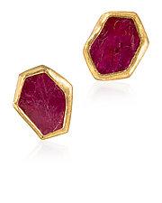 Ruby Slice Earrings by Petra Class (Gold & Stone Earrings)