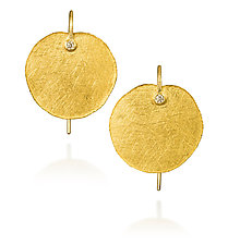 Round Petal Earrings by Petra Class (Gold & Stone Earrings)