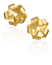 Gold Five Point Earrings by Petra Class (Gold Earrings)